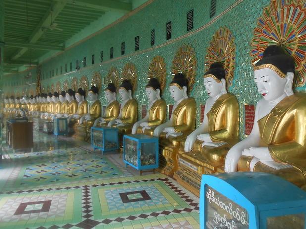 Buddhas in Sagaing Hill, Mandalay, Myanmar. 5/10/15