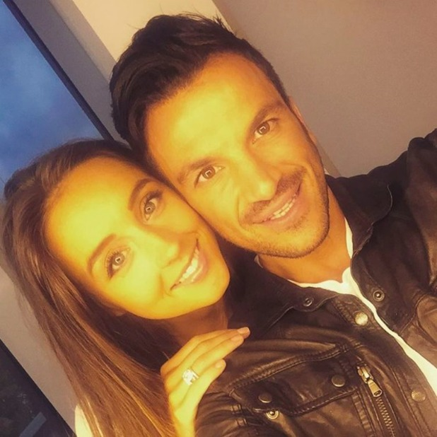 Peter Andre backstage of Strictly It Takes Two with his wife Emily MacDonagh, 09 October 2015.