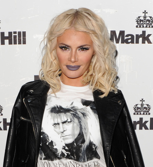 Chloe Sims at Mark Hill Hair Launch, Matte grey lipstick, 7th October 2015