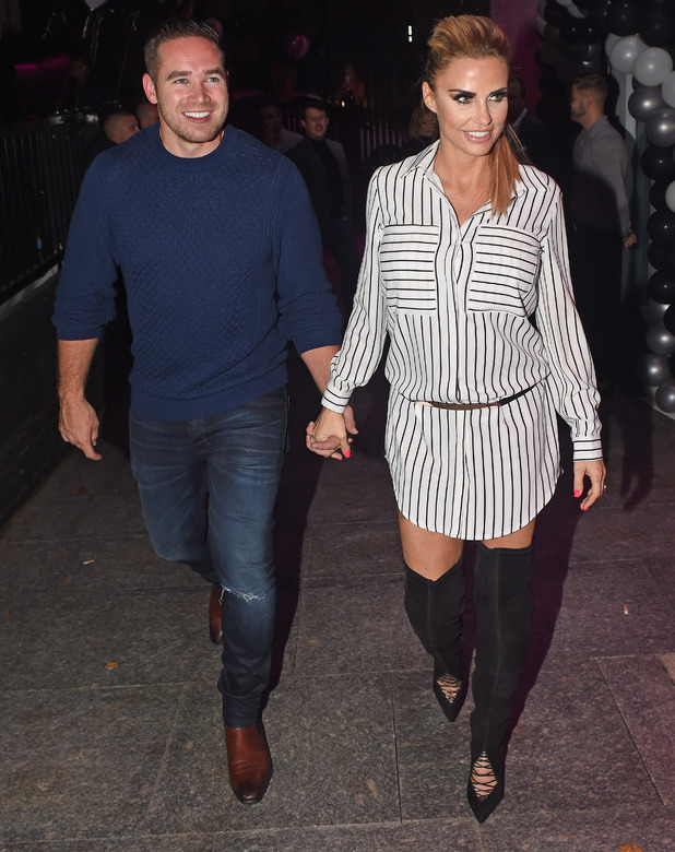 Katie Price and Kieran Hayler leave Pure Nightclub in Bexley Heath after partying with friends, 09 October 2015