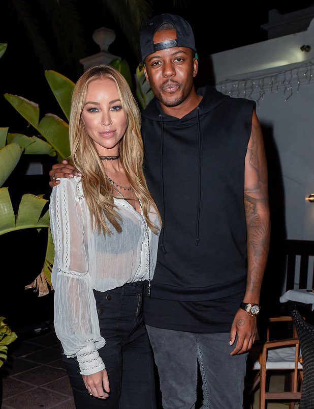 TOWIE: Lauren Pope and Vas Morgan leave La Sala in Puerto Banus - 22 September 2015.