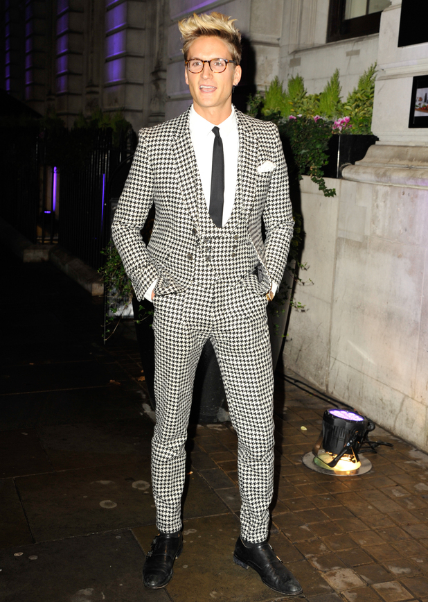 Oliver Proudlock attends Specsavers' Spectacle Wearer of the Year awards held at 8 Northumberland Avenue 6 October