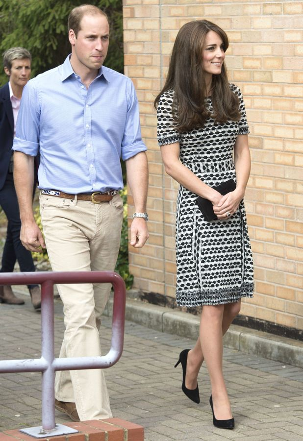 Prince William and Catherine Duchess of Cambridge arrive at Harrow College, London - 10 Oct 2015