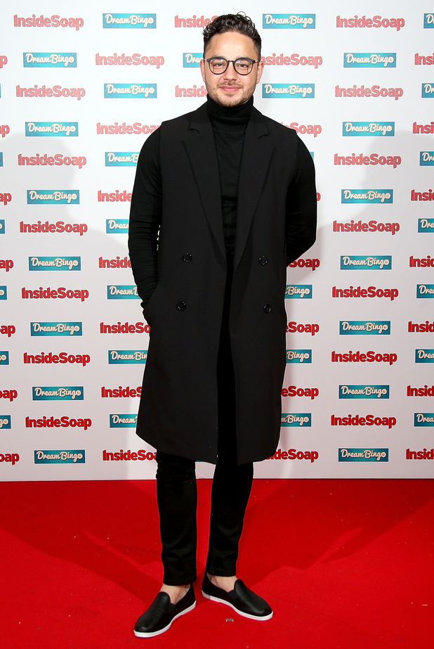 Emmerdale actor Adam Thomas attends the Inside Soap Awards at DSKTRT on October 5, 2015 in London, England.