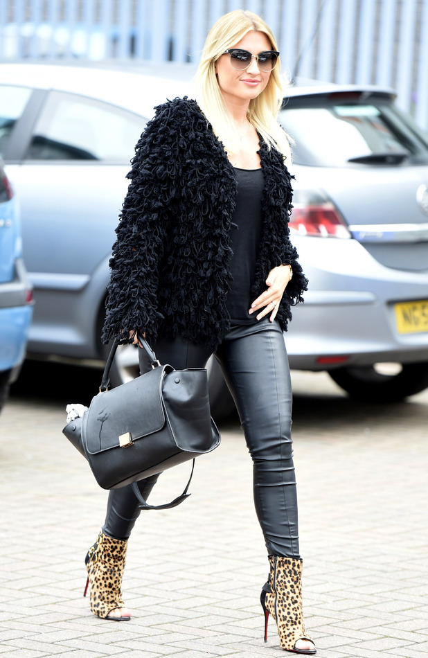 Billie Faiers leaving a meeting in Manchester, 4th October 2015