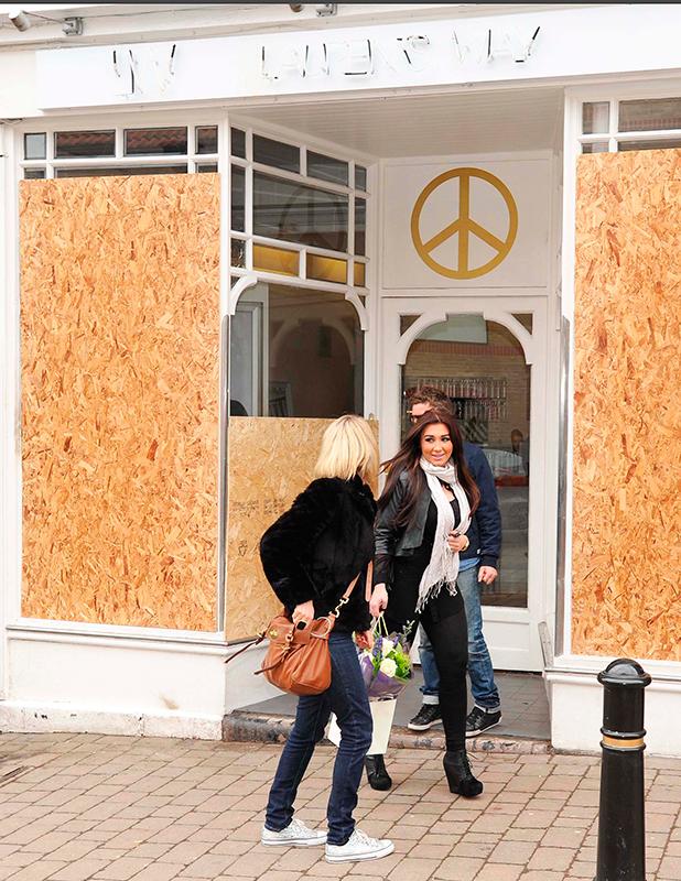 Lauren Goodger beauty salon 'Lauren's Way' petrol bombed 24 hours after opening, Buckhurst Hill, Essex, Britain - 16 Feb 2012 Lauren Goodger