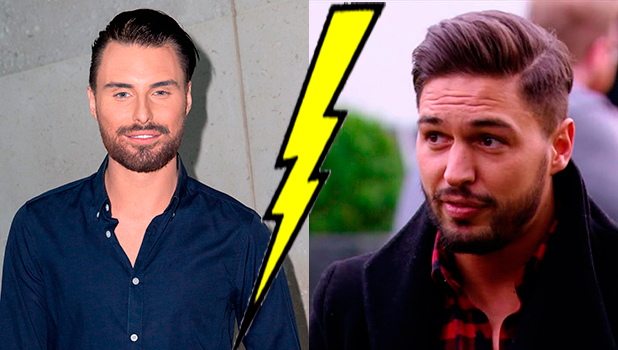 TOWIE: Tommy Mallet meets up with Mario Falcone for a drink, Mario compares Chloe Lewis to a ferrari. 23/3/2015. And Rylan from ITV