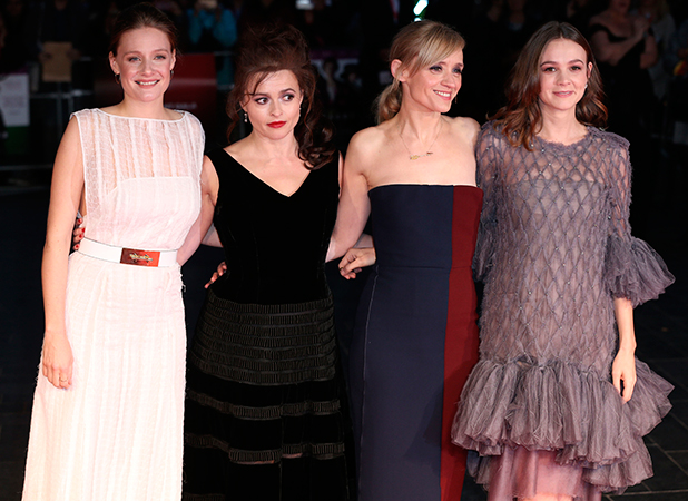 BFI London Film Festival opening night premiere of 'Suffragette' 7 Oct 2015 Protestors