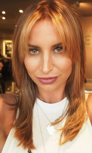 Ferne McCann gets new hair colour, cut and fringe by Alex Garcia at Kennedys Salon, 12 October 2015