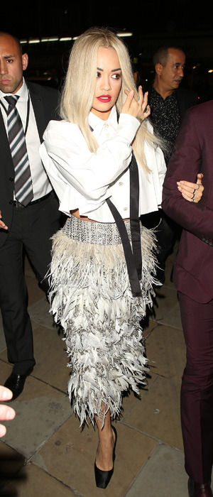 Rita Ora attending the Chanel Exhibition Party at the Saatchi Gallery, 13th October 2015