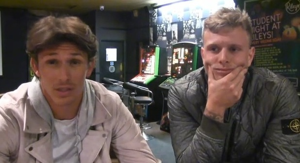 Jake Hall and Tommy Mallet in new TOWIE video - 14 October 2015.