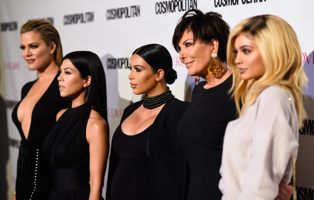 Khloe Kardashian, Kourtney Kardashian, Kim Kardashian, Kris Jenner and Kylie Jenner attend Cosmopolitan's 50th Birthday Celebration at Ysabel on October 12, 2015 in West Hollywood, California.
