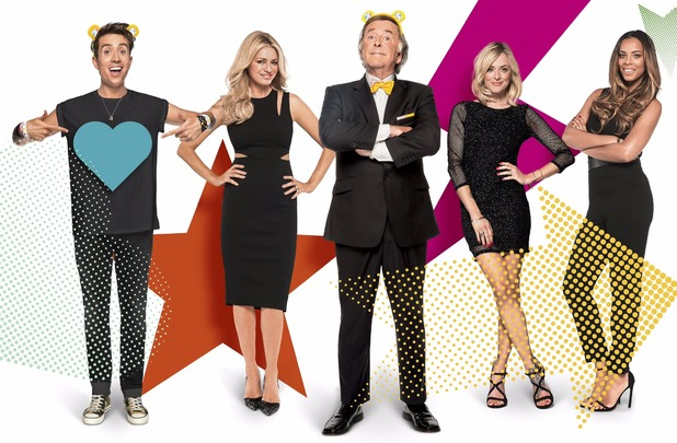 BBC Children In Need 2015: Sir Terry Wogan will be joined by Tess Daly, Fearne Cotton, Rochelle Humes and Nick Grimshaw. 15 October 2015.