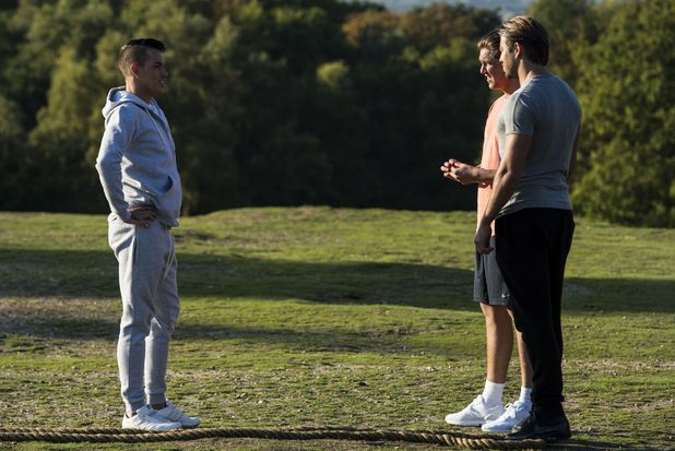 Bobby Norris trains with Lewis Bloor and James Lock, Epping 12 October