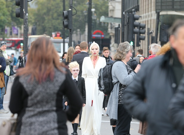 American Horror Story: Hotel -  The Countess has a tour of London - 16 October 2015.