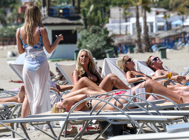 TOWIE - Lauren Pope meets Kate Wright at Plaza Beach. 23 September 2015.