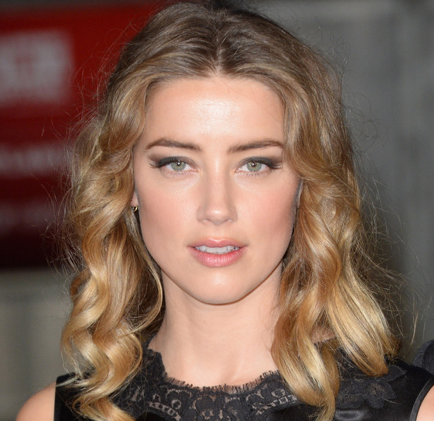 Amber Heard on the red carpet at Black Mass Premiere in London, 12th October 2015