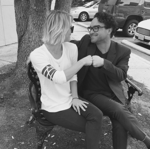Kaley Cuoco and Johnny Galecki deny rumours they are dating 15 October
