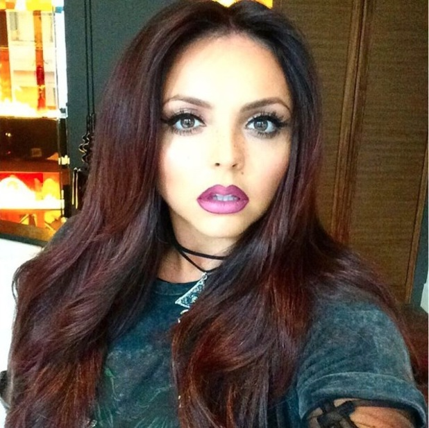 Little Mix's Jesy Nelson shares make-up selfie to Instagram, 13th October 2015