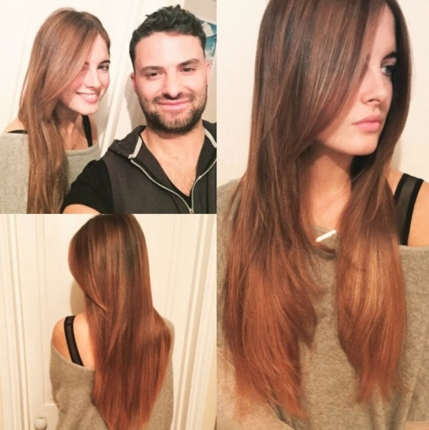 Made in Chelsea's Binky Felstead shows off new longer hair-style, 14th October 2015