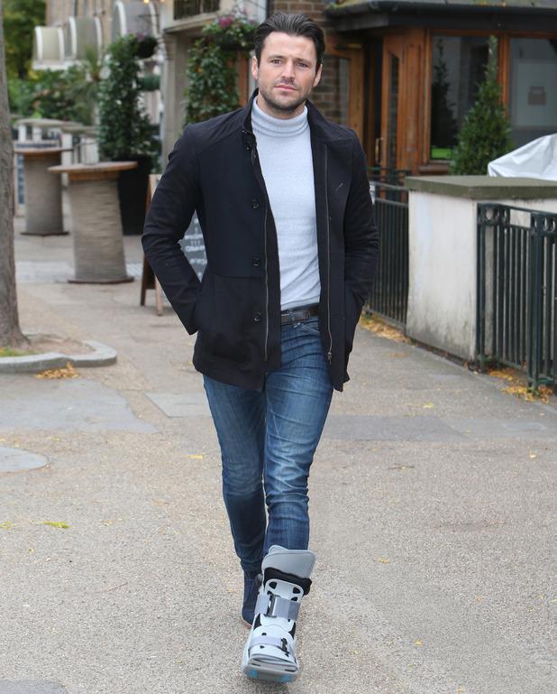 Mark Wright outside ITV Studios, London 15 October