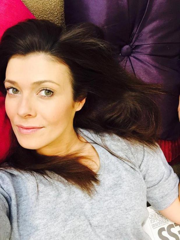 Kym Marsh shares relaxed selfie on Twitter.