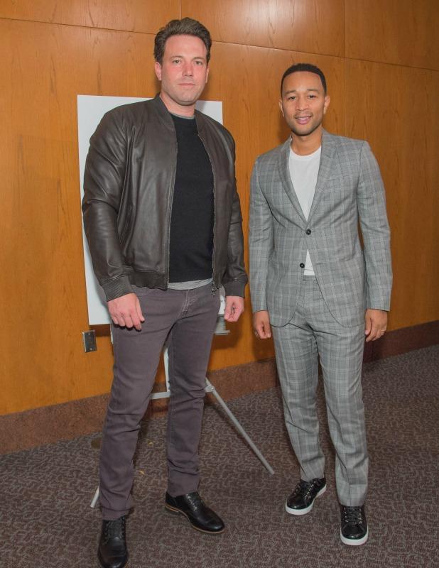 'Beasts of No Nation' film premiere, Los Angeles, America - 13 Oct 2015 Ben Affleck and John Legend