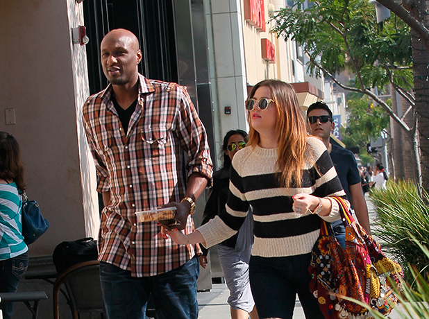 Lamar Odom and Khloe Kardashian Odom out and about in Beverly Hills Los Angeles, California - 21.10.11