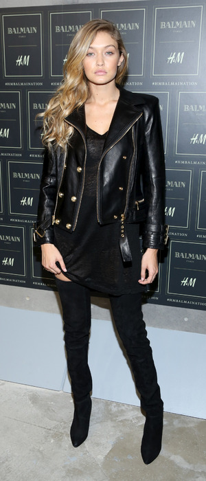 Gigi Hadid attends the Balmain X H&M party in Manhattan New York 21st October 2015