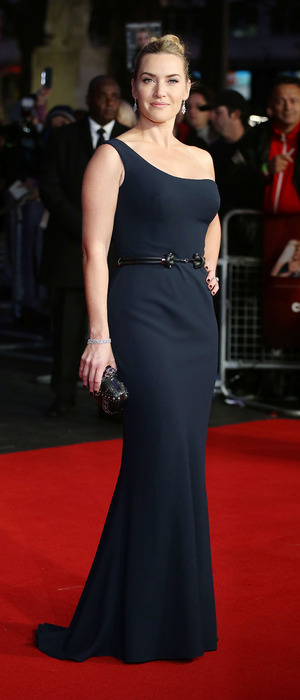 Kate Winslet wears navy blue dress at the BFI London Film Festival - 'Steve Jobs' - Premiere and Closing Gala, 19th October 2015