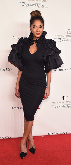 Nicole Scherzinger in black dress at the American Ballet 75th Anniversary Fall Gala, 22nd October 2015
