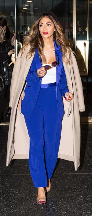 Nicole Scherzinger leaving the Today Show in New York, 21st October 2015