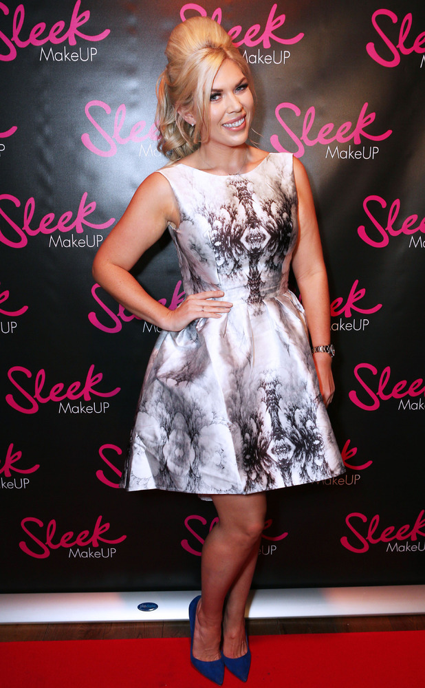Frankie Essex wears ChiChi London at the Sleek Make-up Launch Party in London, 22nd October 2015