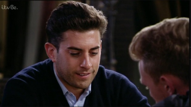 TOWIE: Arg confides in Tommy over his relationship troubles with Lydia. 18 October 2015.