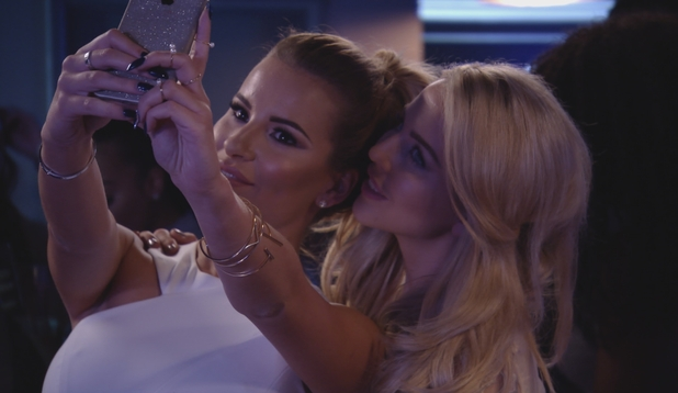 Lydia Bright and Georgia Kousoulou on girls' night out, TOWIE 21 October