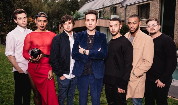 X Factor judge Nick Grimshaw with his boys category in the Cotswolds for Judges Houses, 20th October 2015