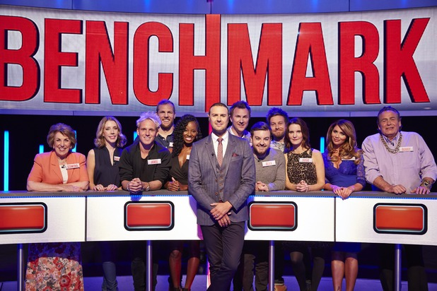 Celebrity Benchmark - final episode of Channel 4 game show. 23 October 2015.