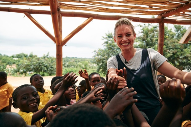 Kimberly Wyatt visits Ghana to see how Red Nose Day cash is changing lives, October 2015