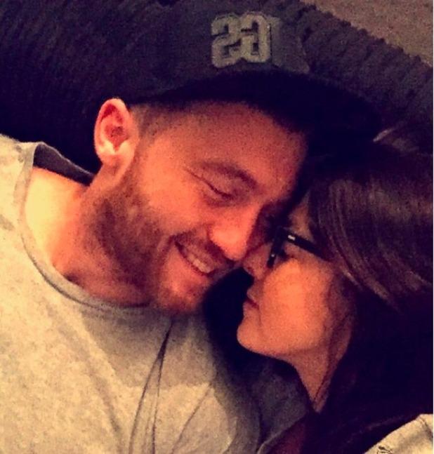 Kym Marsh and boyfriend Matt Baker get cosy, October 2015.
