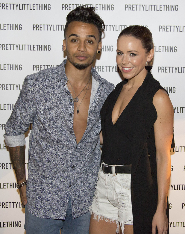 Aston Merrygold and Sarah Richards at the PrettyLittleThing.com Party held at Steam & Rye - 20 July 2015.