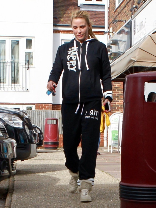 Katie Price pictured in Worthing, West Sussex. 21 October 2015.