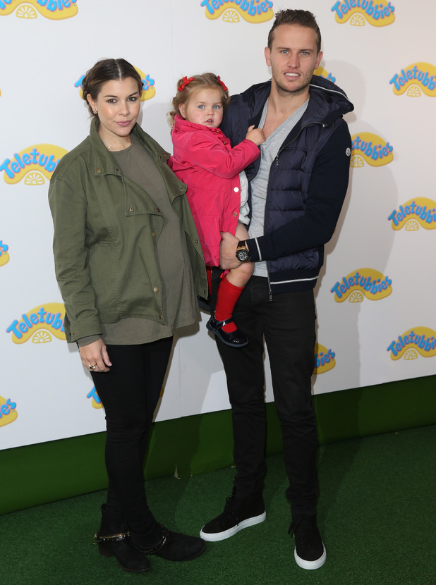 Pregnant Imogen Thomas attends world premiere of Teletubbies TV series for CBeebies at the BFI Southbank, 25 October 2015.