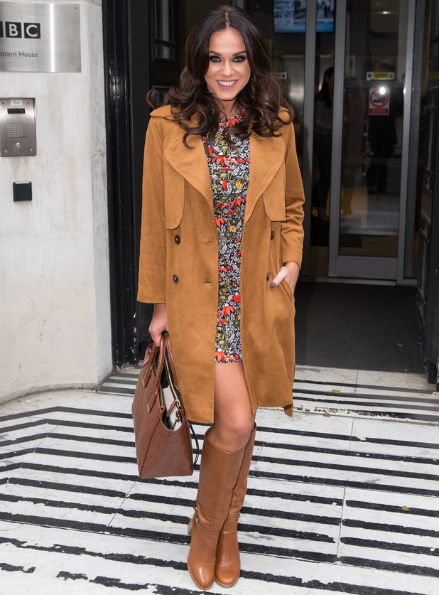 Vicky Pattison arriving at the BBC Radio 2 Studios, London 22 October