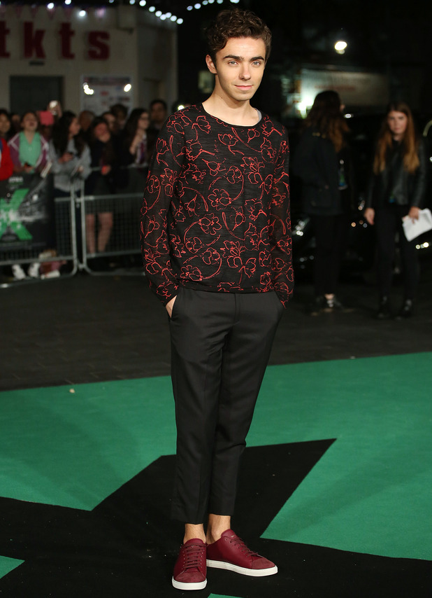 Nathan Sykes arrives at the 'Ed Sheeran: Jumpers for Goalposts' Film premiere, 22nd October 2015