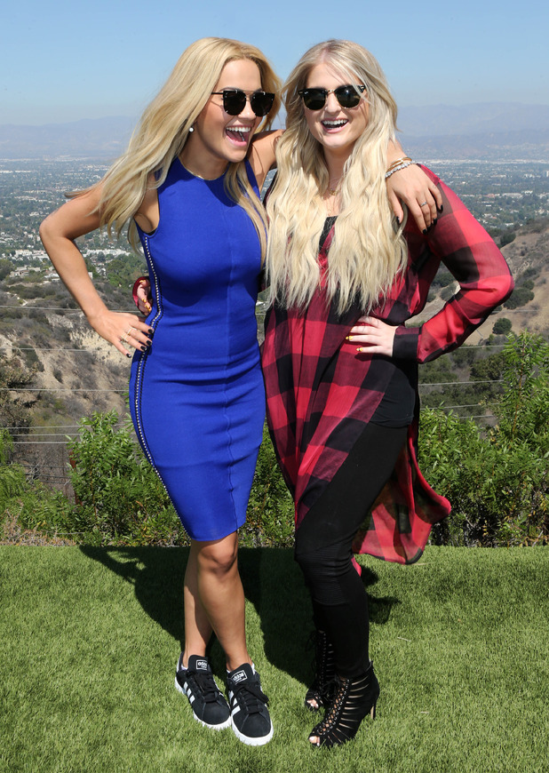 X Factor 2015: Judges' Houses - Rita and guest judge Meghan in Los Angeles.