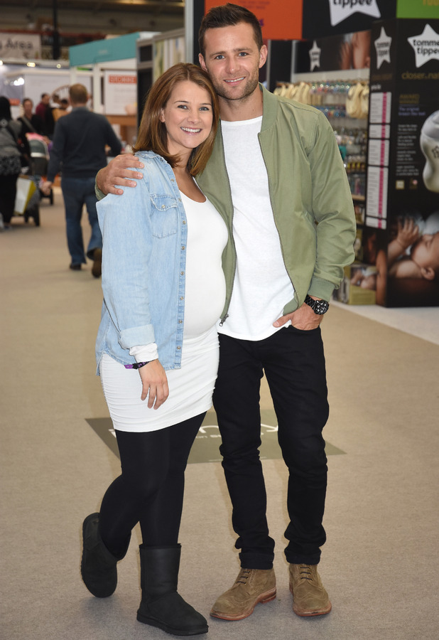 Pregnant Izzy Johnson and Harry Judd attend The Baby Show at Olympia, London - 23/10/2015