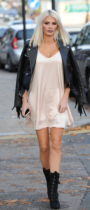 Chloe Sims filming The Only Way Is Essex in Loughton, 26th October 2015