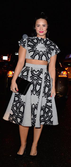 Demi Lovato wears star print co-ords in New York, 29th October 2015