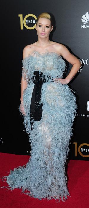 Iggy Azalea wears Armani dress to the Vogue China Gala Dinner in China, 28th October 2015
