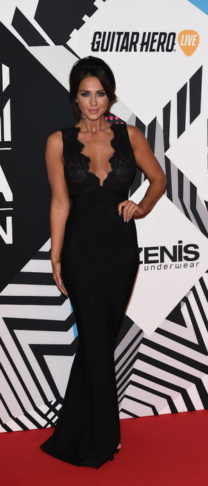 Vicky Pattison poses in black dress at the MTV EMAs in Milan, 26th October 2015